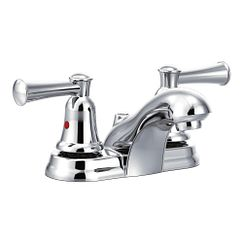 Chrome two-handle bathroom faucet