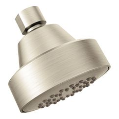 Brushed nickel one-function eco-performance showerhead showerhead