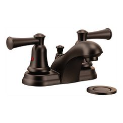 Old world bronze two-handle bathroom faucet