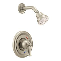 Brushed nickel cycling shower only
